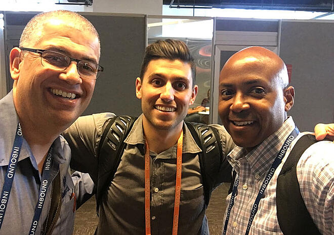 stromie andrews and darrell evans with chris sergi formerly of hubspot
