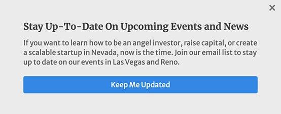 pop-up advertisement screenshot