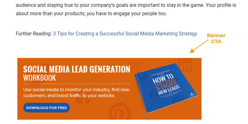 end of of blog post banner CTA example