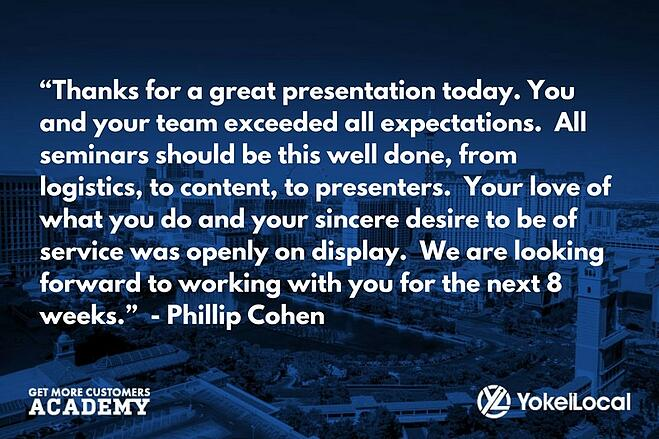 get more customers academy testimonial phillip cohen